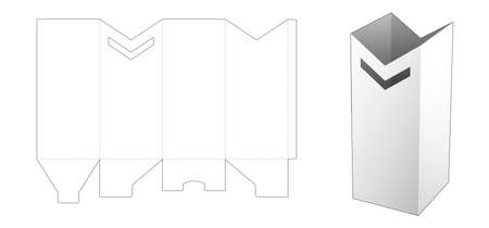 Special stationery tall  box die cut template