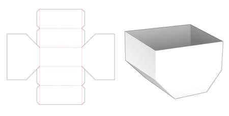 Unequal hexagonal bowl die cut template