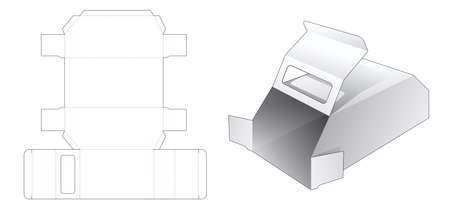 Car shaped packaging box with window die cut template Stock Illustratie