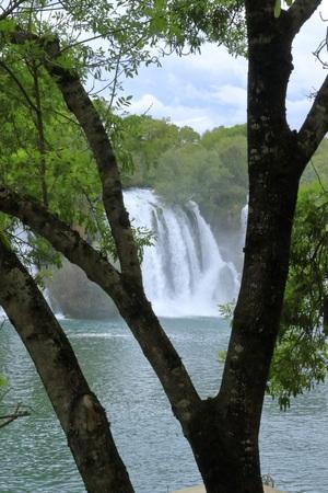 NATURE AND CASCADE KRAVICA WATERFALL BOSNIA
