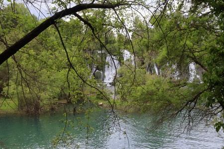 GREEN IN THE KRAVICA WATERFALL BOSNIA WATERFALL