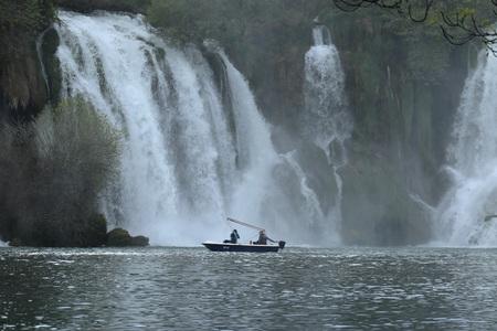 PLEASURES OF THE CASCADE KRAVICA WATERFALL BOSNIA