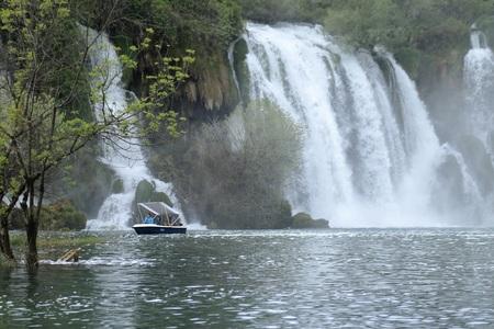 THE NATURE PRESENT IN THE KRAVICA WATERFALL BOSNIA WATERFALL