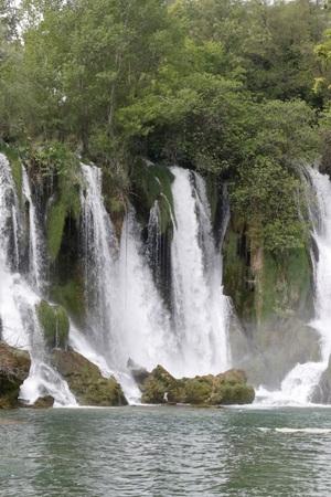 BEAUTY OF THE CASCADE KRAVICA WATERFALL BOSNIA