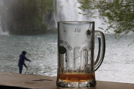 AFTER WORK IN THE KRAVICA WATERFALL BOSNIA WATERFALL