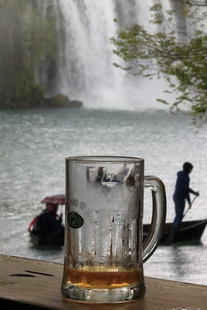 A FRESH FRUIT IN THE KRAVICA WATERFALL BOSNIA WATERFALL