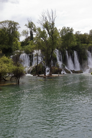 TRANQUILITY IN THE CASCADE KRAVICA WATERFALL BOSNIA