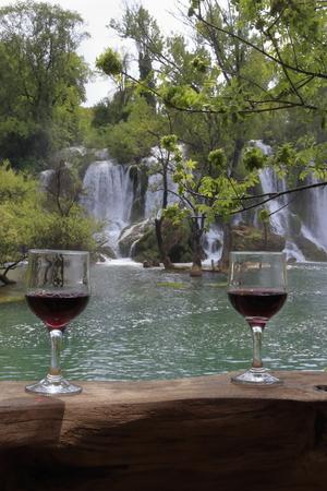 WINE AND WATERFALL WATERFALL BOSNIA WINE AND WATERFALL