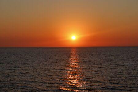 evening in the sea of italy in crucero. Foto de archivo
