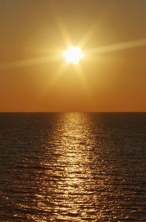 Tyrrhenian Sea and its sunsets. Foto de archivo