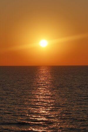 sunshine in the Tyrrhenian Sea.