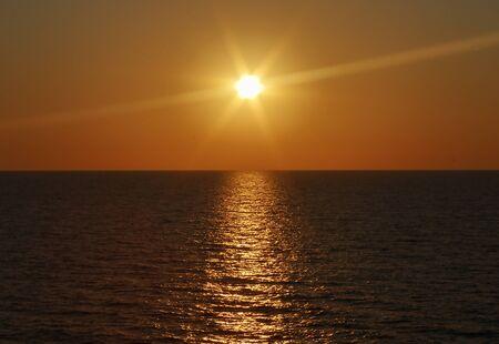 during the horizon. Foto de archivo