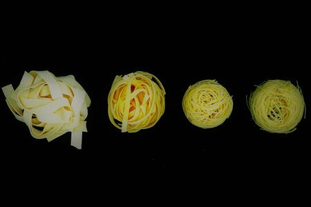 from lowest to highest Italian pasta Foto de archivo