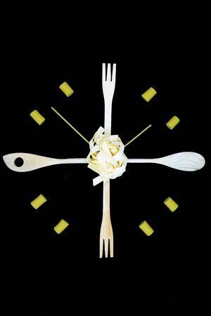 it's always time to eat italian pasta Foto de archivo