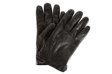 leathern: Black glove on a white background