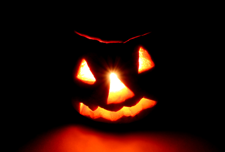 Halloween. Jack-o-lantern (pumpkin) — horror!