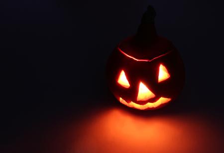 hallowmas: Halloween. Fire face of Jack-o-lantern (pumpkin).