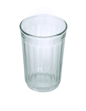 ribbed: Russian (Soviet) beverage ribbed glass. Isolation on a white background. Clipping path.