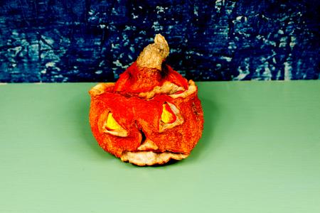 Horror on Halloween. Jack-o-lantern (Pumpkin) Stock Photo