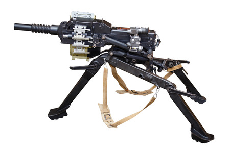 Russian automatic grenade launcher. Isolated on a white background. Stock Photo