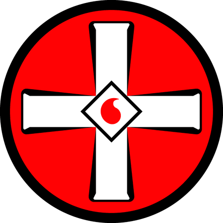 Emblem of the Ku Klux Klan. Vector illustration