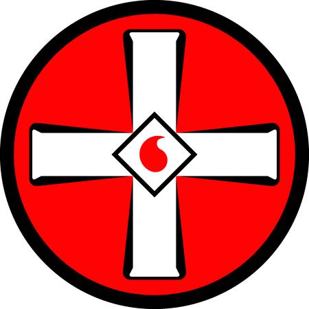racism: Emblem of the Ku Klux Klan. Vector illustration