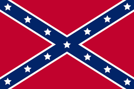 National flag of the Confederate States of America. Illustration
