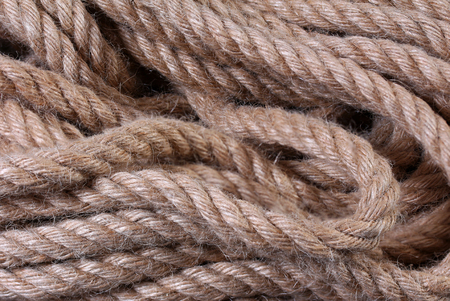 Background from a natural jute rope 写真素材