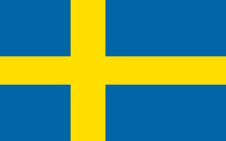 Sweden flag. Official colors. Vector illustration