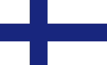 Finland flag. Official colors. Vector illustration