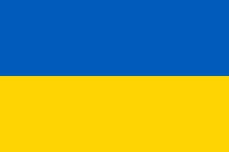 Ukraine flag. Official colors. Correct proportion. Vector illustration