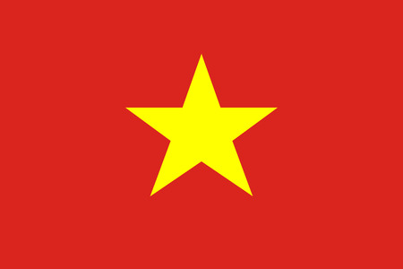 Socialist Republic of Vietnam flag. Official colors. Correct proportion. Vector illustration