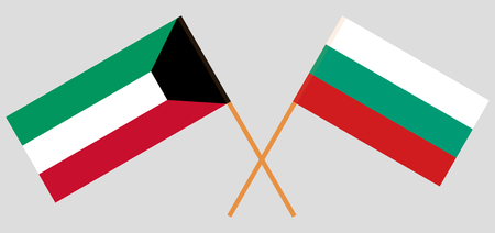 Bulgaria and Kuwait. The Bulgarian and Kuwaiti flags. Official colors. Correct proportion. Vector illustration Illusztráció