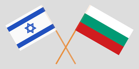 Bulgaria and Israel. The Bulgarian and Israeli flags. Official colors. Correct proportion. Vector illustration Ilustração