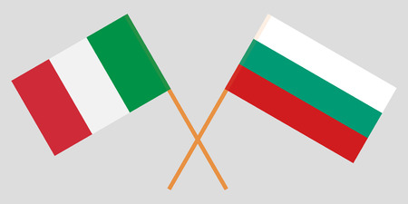 Bulgaria and Ialy. The Bulgarian and Italian flags. Official colors. Correct proportion. Vector illustration