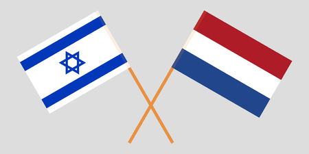 Netherlands and Israel. The Netherlandish and Israeli flags. Official proportion. Correct colors. Vector illustration