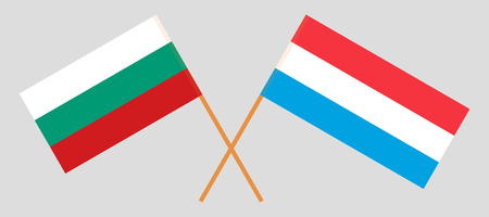Luxembourg and Bulgaria. The Luxembourgish and Bulgarian flags. Official proportion. Correct colors. Vector illustration
