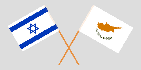 Cyprus and Israel. The Cyprian and Israeli flags. Official proportion. Correct colors. Vector Imagens - 119920152