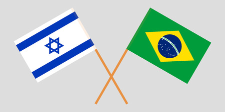 Brazil and Israel. The Brazilian and Israeli flags. Official proportion. Correct colors. Vector illustration Imagens - 119920158