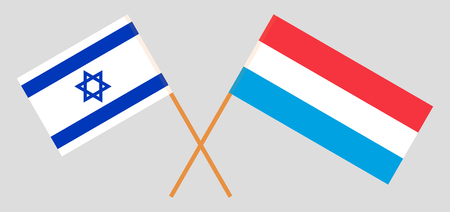 Luxembourg and Israel. The Luxembourgish and Israeli flags. Official proportion. Correct colors. Vector illustration Imagens - 119920174