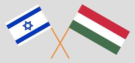 Hungary and Israel. The Hungarian and Israeli flags. Official proportion. Correct colors. Vector illustration Imagens - 119920221
