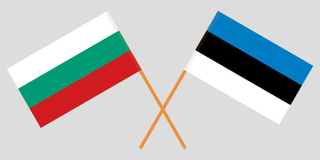 Bulgaria and Estonia. The Bulgarian and Estonian flags. Official colors. Correct proportion. Vector illustration