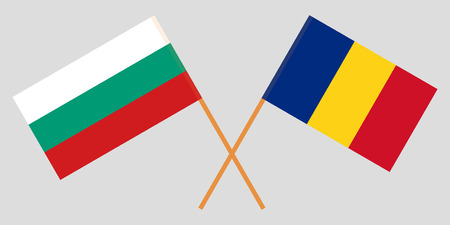 Romania and Bulgaria. The Romanian and Bulgarian flags. Official proportion. Correct colors. Vector illustration