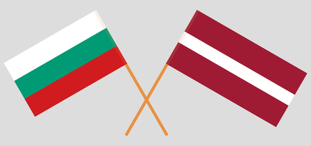 Latvia and Bulgaria. The Latvian and Bulgarian flags. Official colors. Correct proportion. Vector illustration