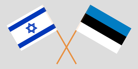 Estonia and Israel. The Estonian and Israeli flags. Official proportion. Correct colors. Vector illustration Imagens - 119921239