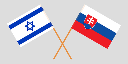 Slovakia and Israel. The Slovakian and Israeli flags. Official colors. Correct proportion. Vector illustration Imagens - 119921418
