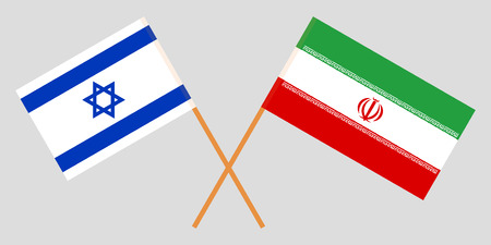 Israel and Iran. The Israeli and Iranian flags. Official colors. Correct proportion. Vector illustration Imagens - 123214260