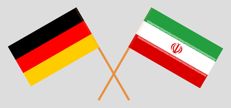 Iran and Germany. The Iranian and German flags. Official colors. Correct proportion. Vector illustration Illusztráció