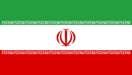 Flag of Iran. Official colors. Correct proportion. Vector illustration