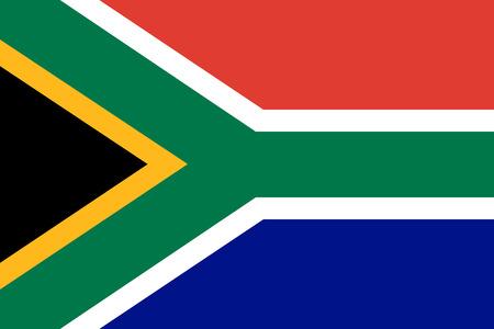 Drapeau de la République d'Afrique du Sud. Couleurs officielles. Proportion correcte. Illustration vectorielle
